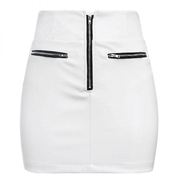 Hippie Leather Short Skirt