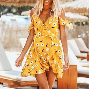 Bohemian Flowery Summer Dress