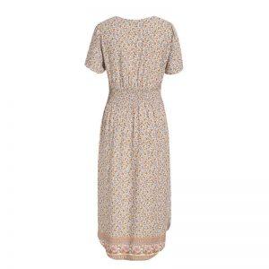 Hippie flowery maxi dress