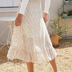 Long skirt boheme chic white