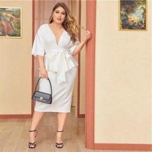 White dress boheme large size