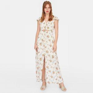 Bohemian long dress white