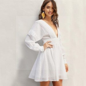 Bohemian backless dress