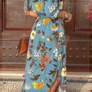 Bohemian long dress without sleeves