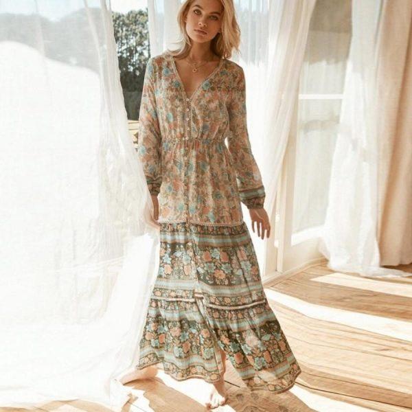 Bohemian retro dress
