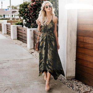 Bohemian chic long dress luxury