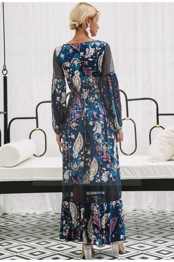Bohemian chic long dress for women