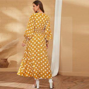 Bohemian maxi dress, plain