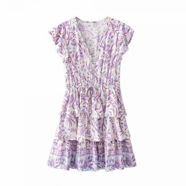 Dress hippie chic cotton